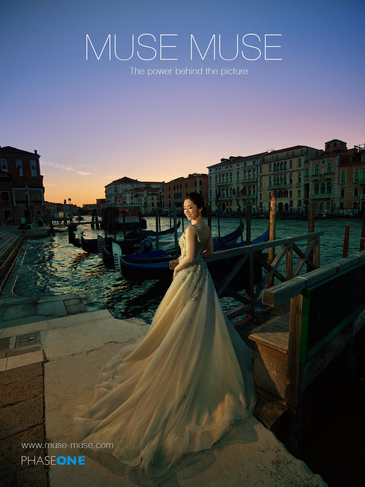 上圖:日落的威尼斯份外動人!