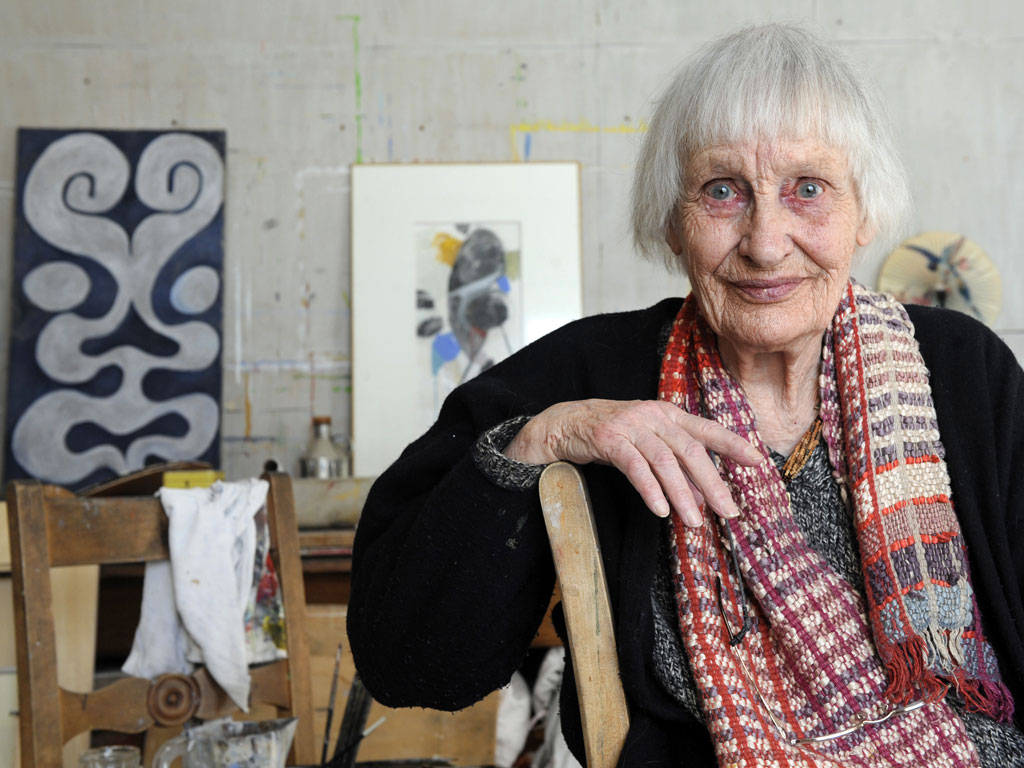 Angelica in her studio 2009. Credit Anne-Christine Poujoulat/Agence France-Presse via Getty Images