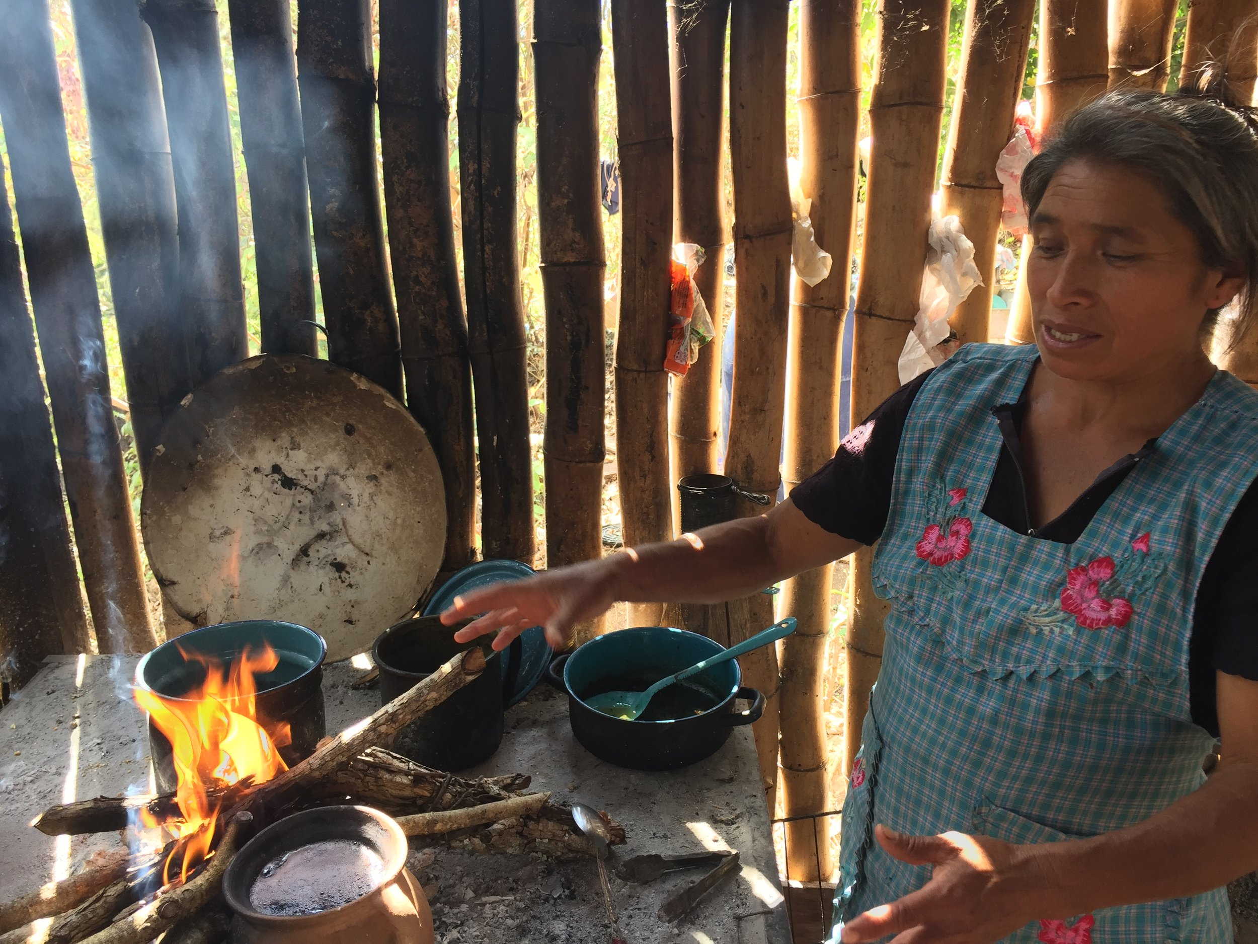 Julieta cooking beans