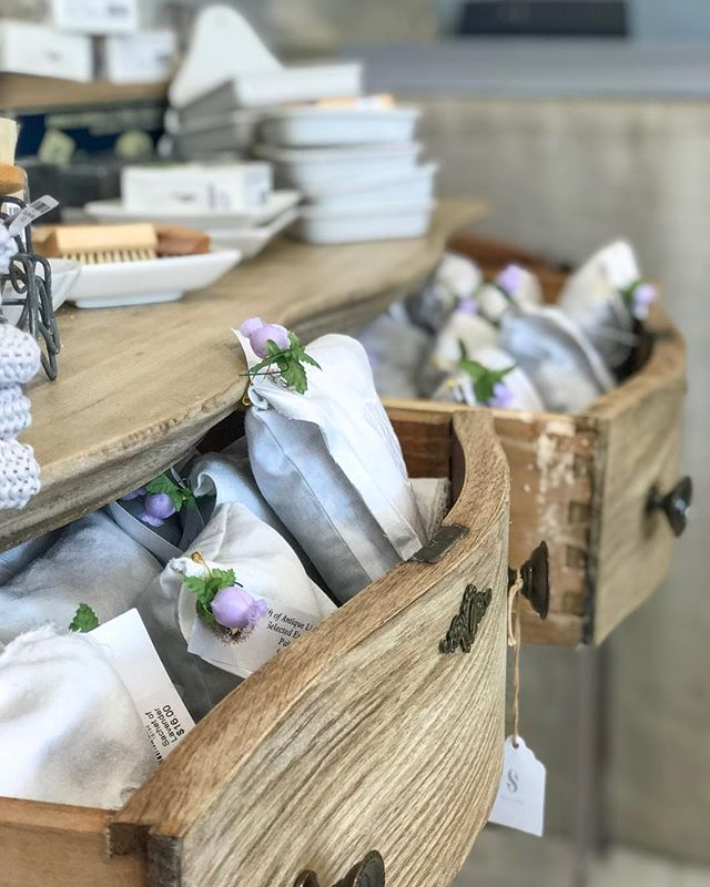 Aside from looking lovely and smelling even lovelier, lavender sachets can be used as an aid to relaxation before sleep, or can be dropped into a bathtub for a soothing soak 🛁