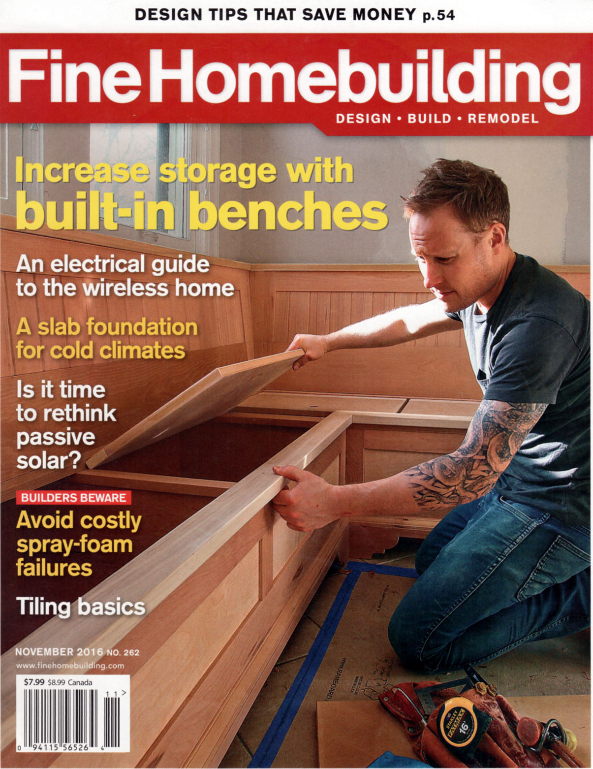 Fine Homebuilding November 2016 DXV Design Panel 2016-2017 Charleston Classic