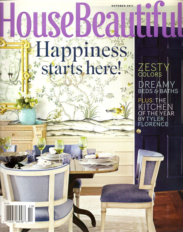 House Beautiful October 2011 Happiness Is...design bloggers polled.