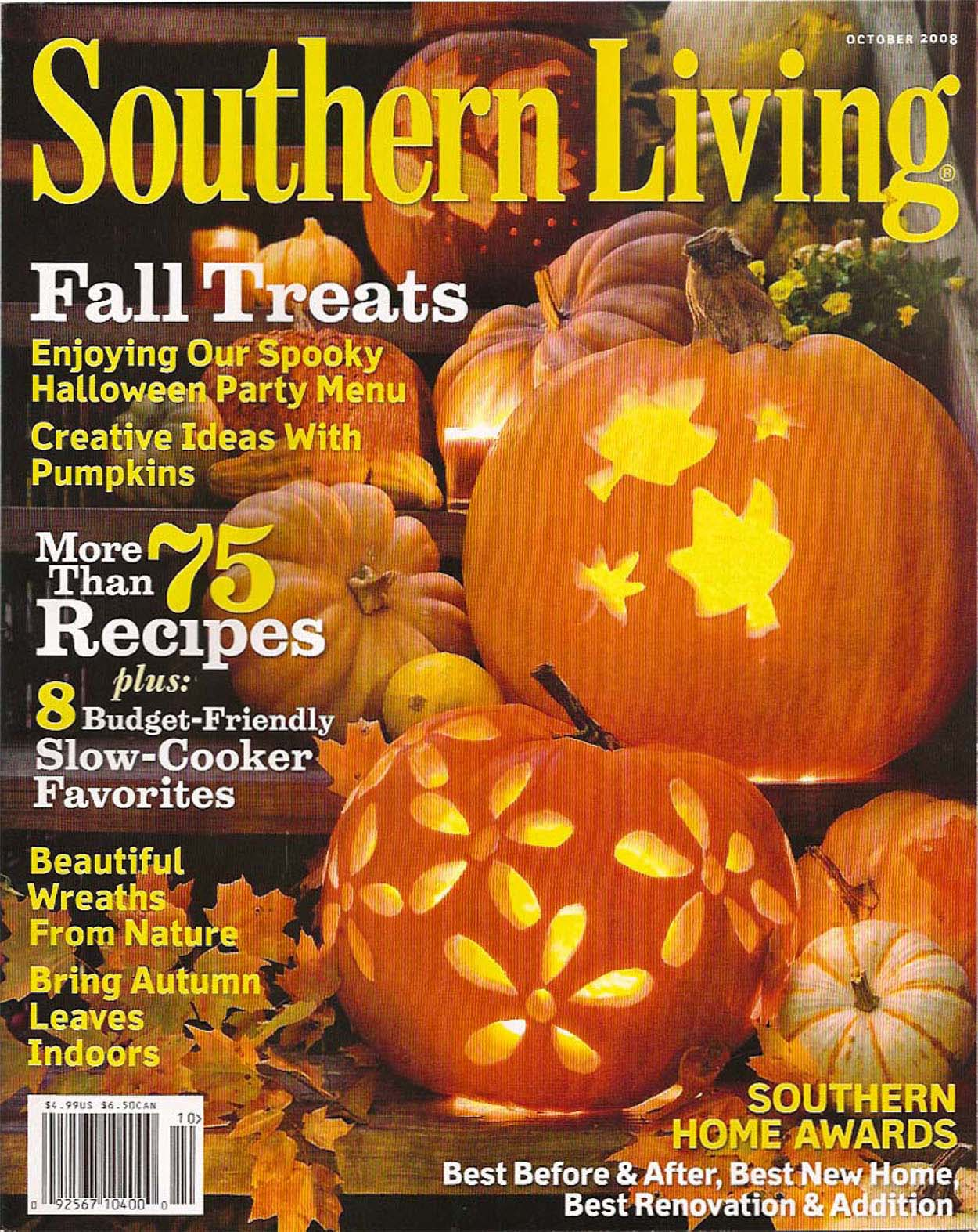 Southern Living October 2008 New Homeplace