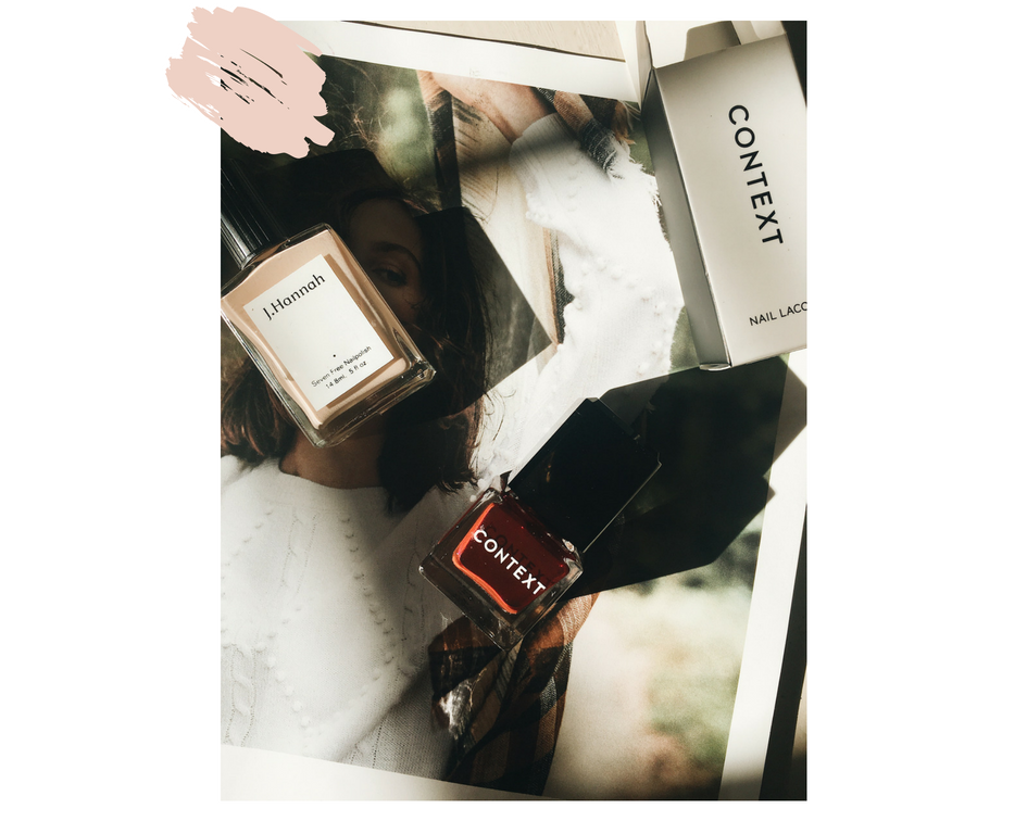 Featured: Context Nail Lacquer in Night Train, J Hannah Nail Polish in Agnes