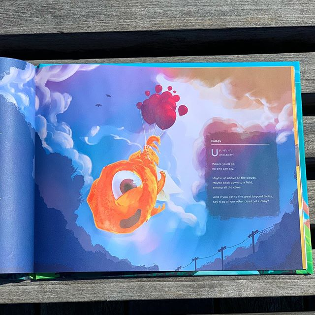 Up, up and away. Another great way to say good bye to your fishy friend. Get your copy in the link@in the bio ☝️#oopsthefishdied . . . . #selflublished #pets #kidsdiy #raisingreaders #illustrationforkids #kidscrafts #momlife #momtruth #dadlife #teacherlife #bookstagram #kidstagram #kidsbookswelove