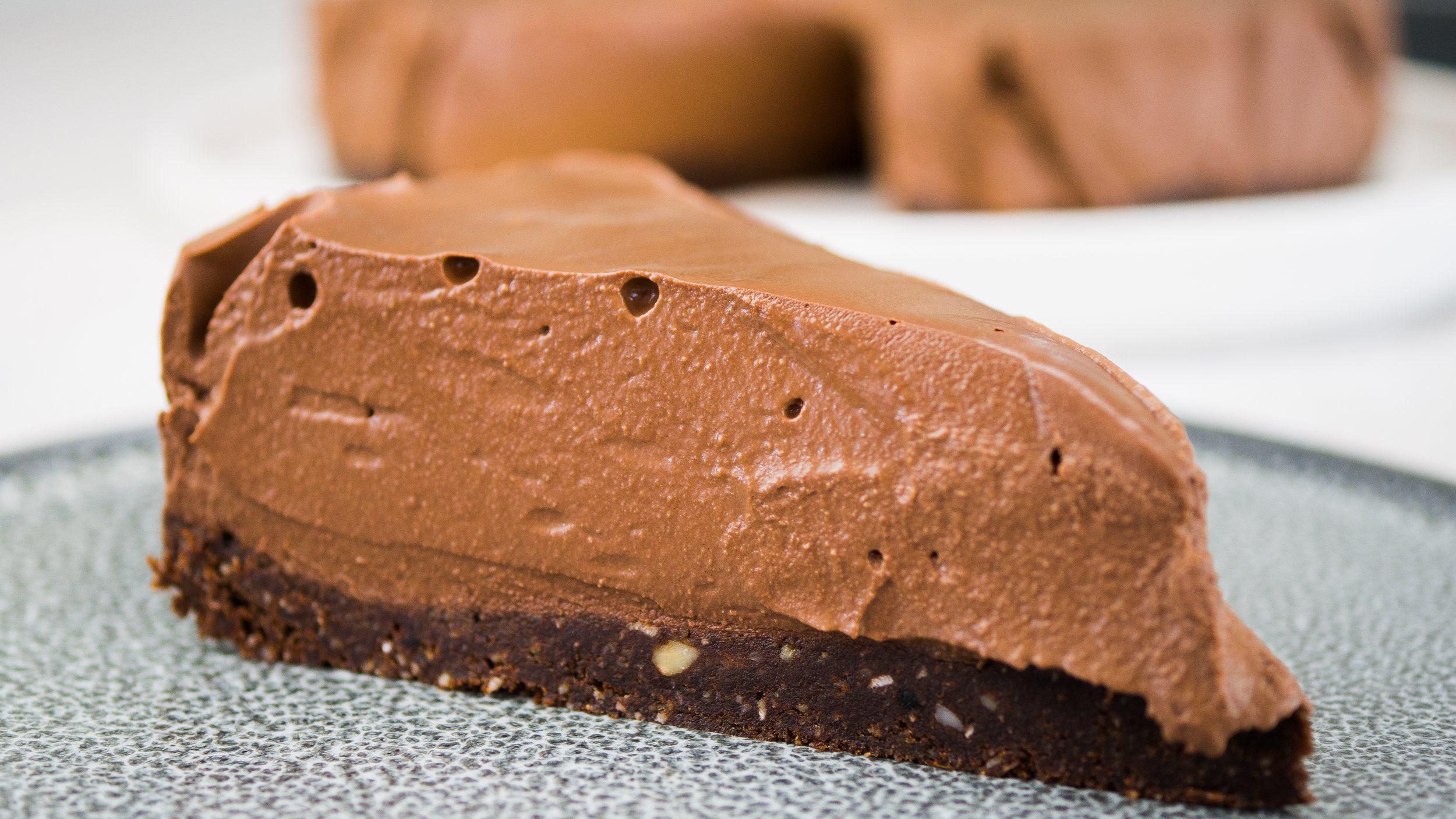 Healthy Chocolate Mousse Cake