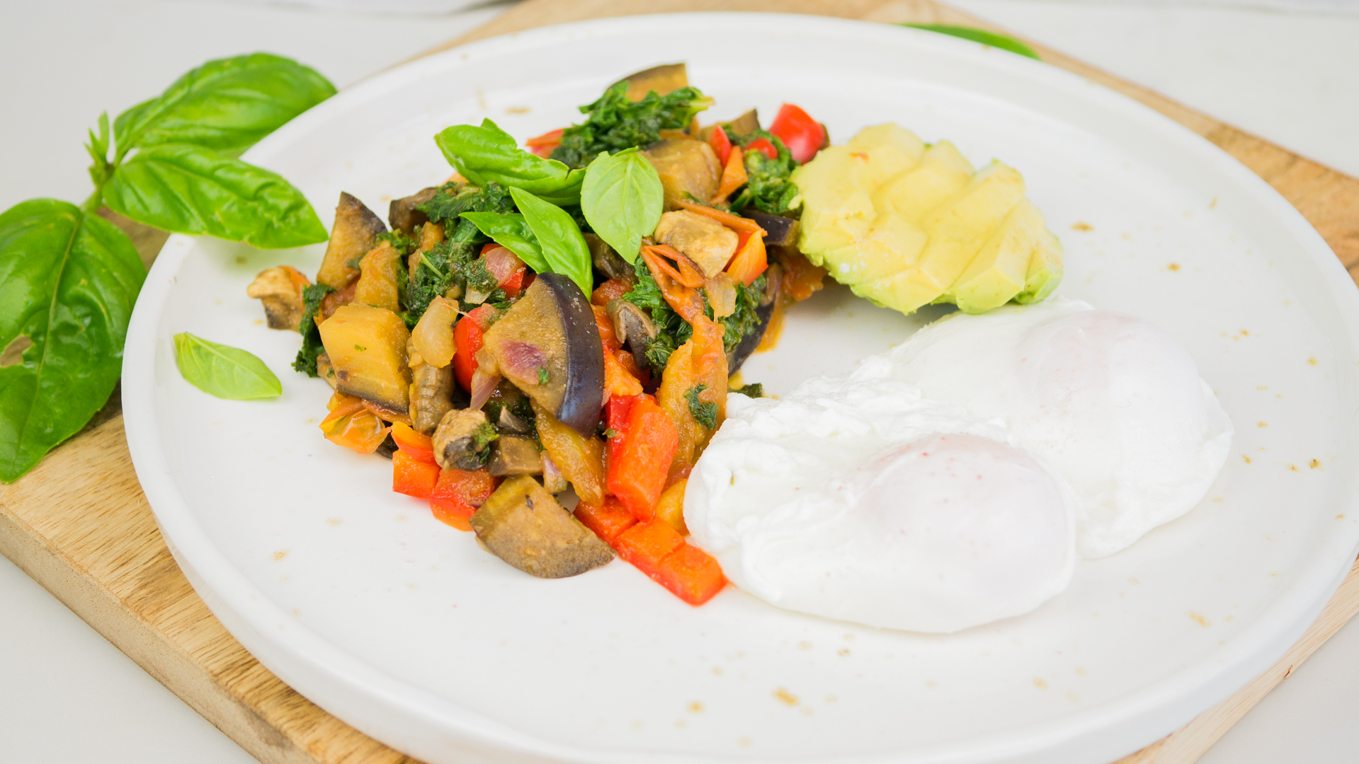 Breakfast Hash with Poached Eggs