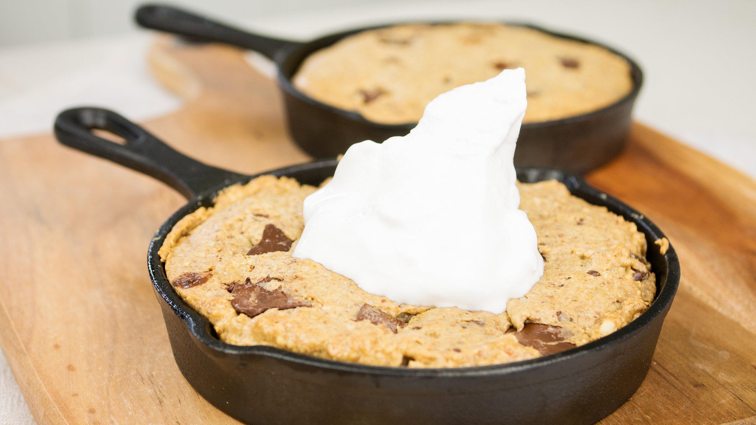 Choc Chip Skillet Cookie