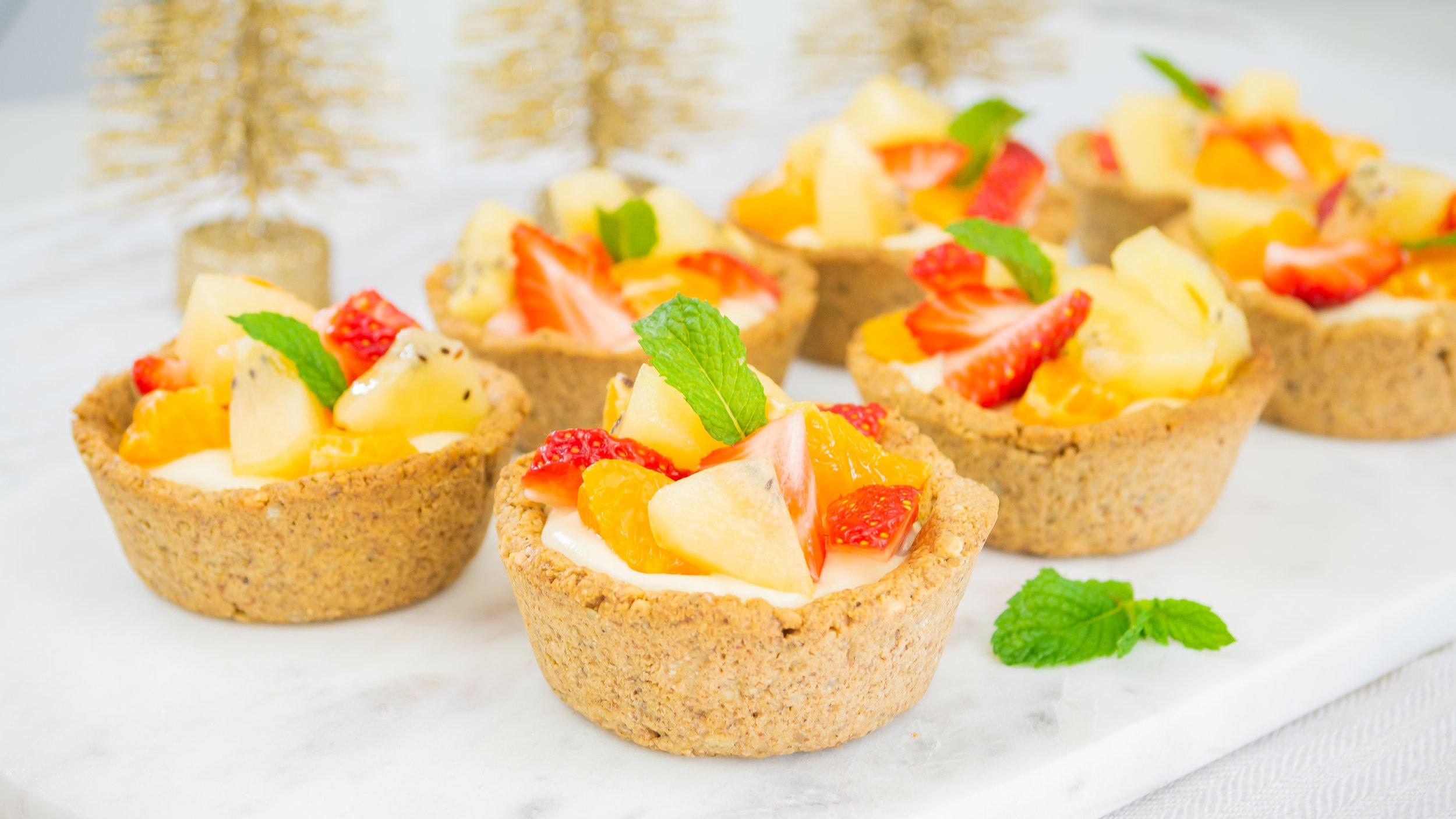 Christmas Fruit Custard Tarts