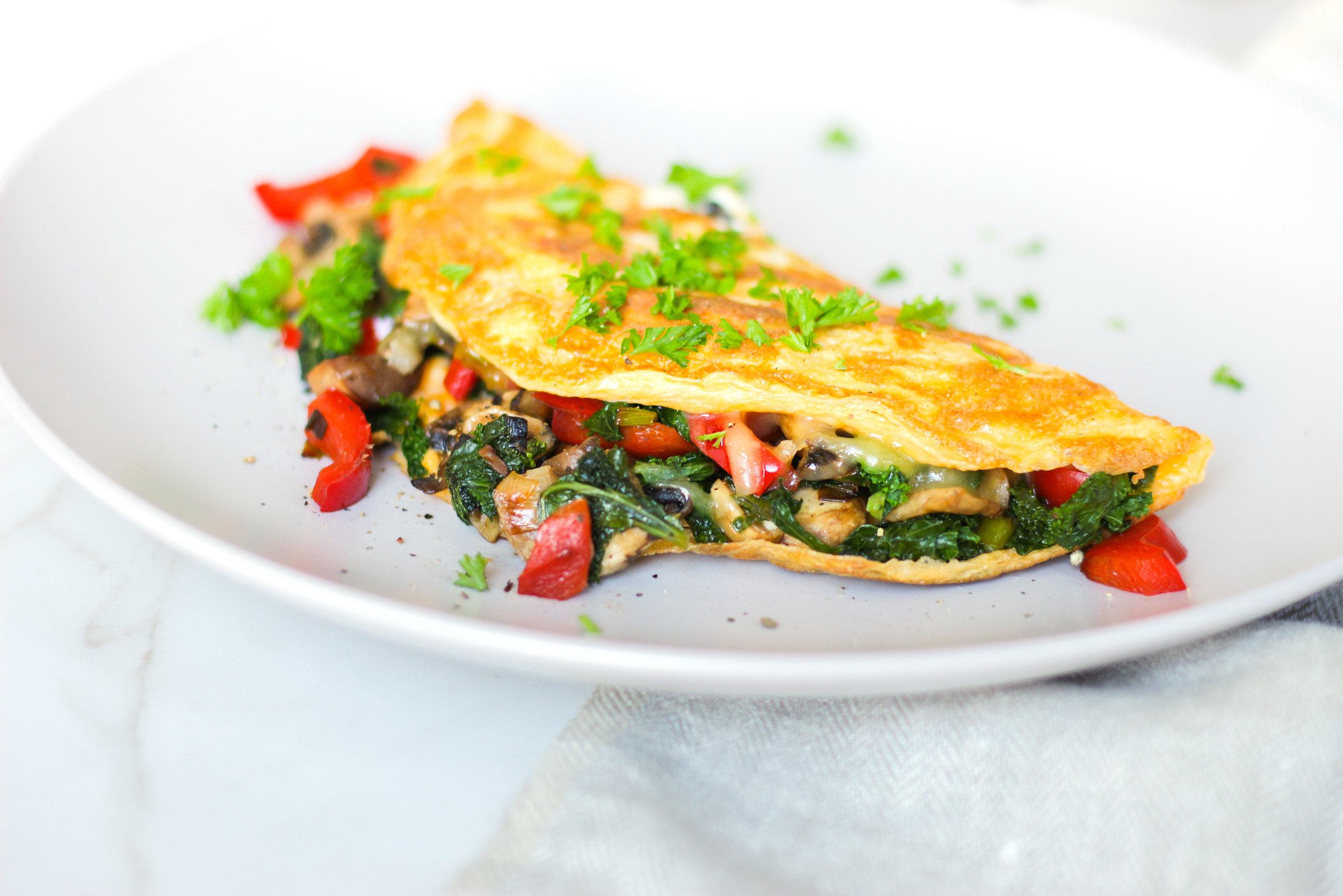 Breakfast Vegetable Omelette