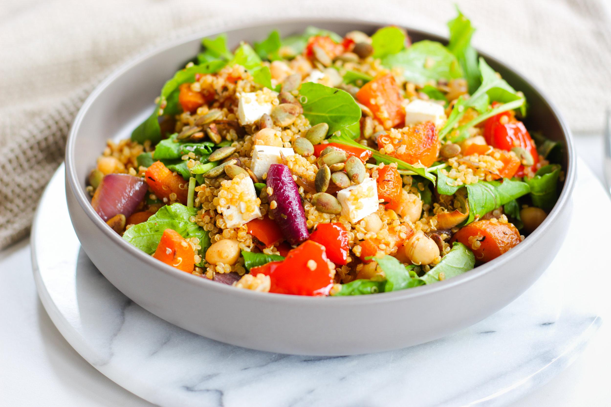 Quinoa & Roast Vegetable Salad