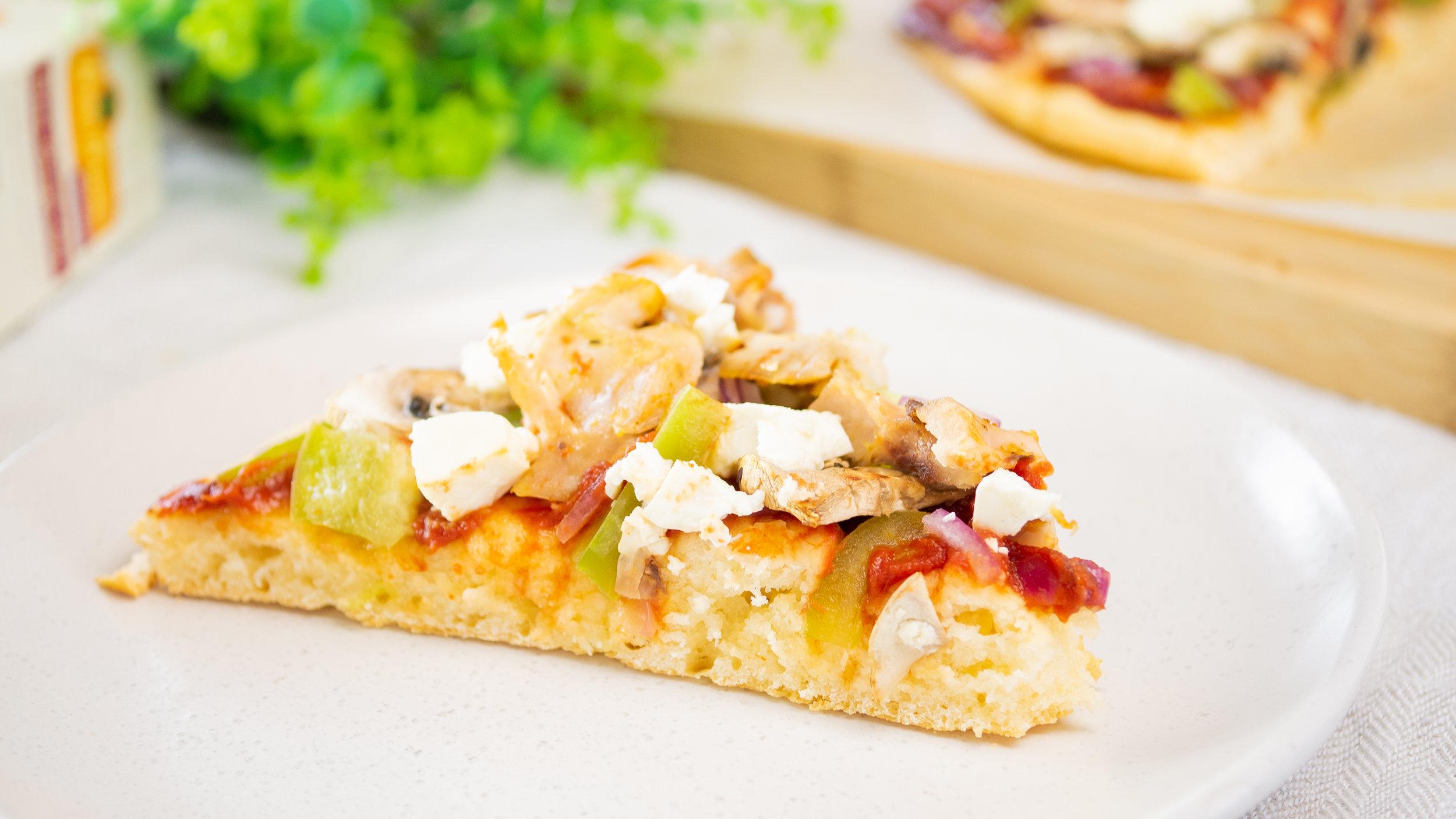 Gluten-Free Chicken & Mushroom Pizza