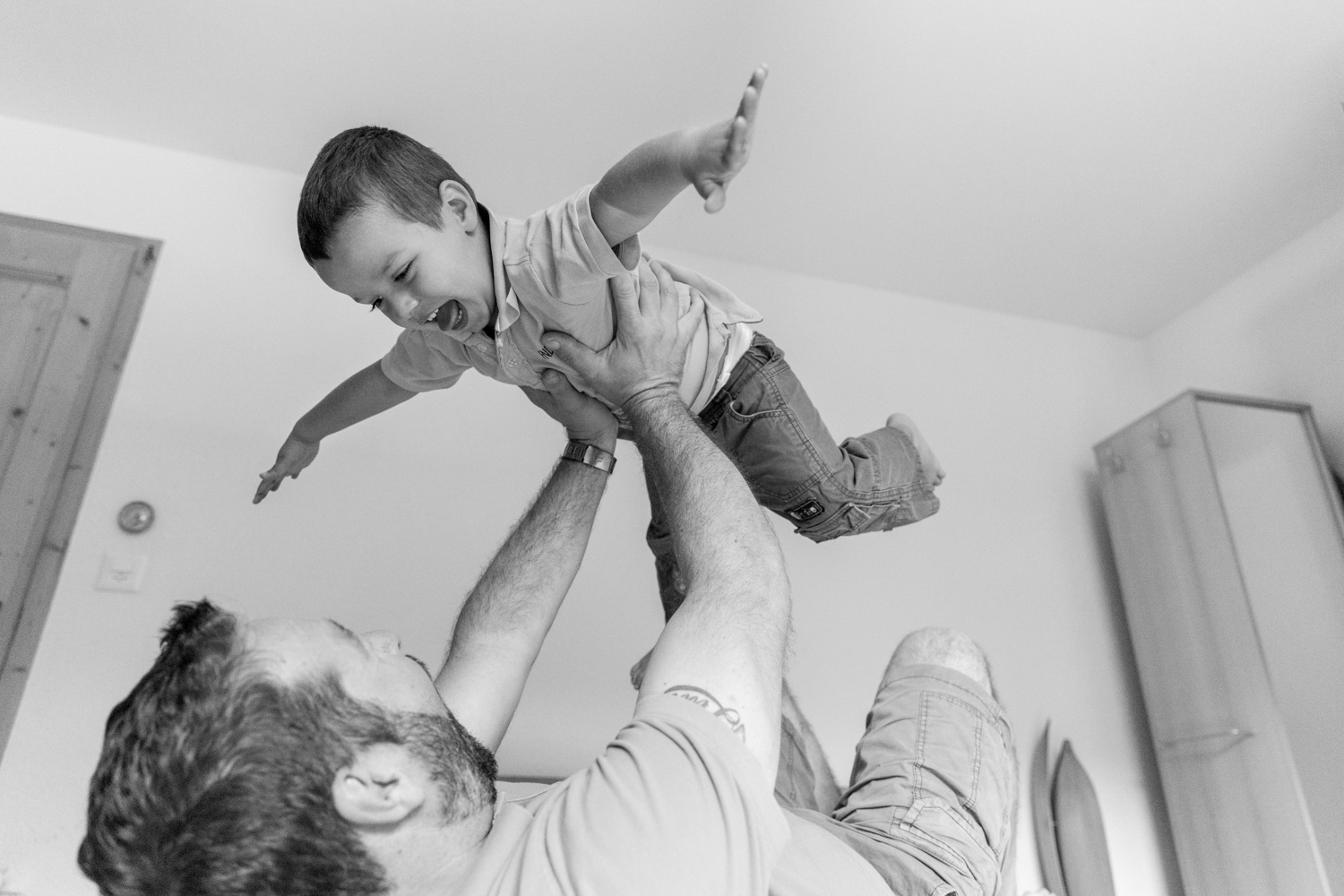 calgary family photography playful fun with son and dad