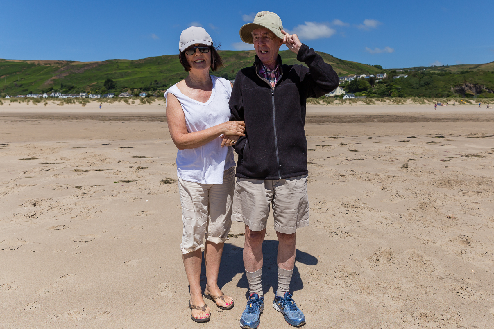 Socks and sneakers on the beach...oh Nigel. xoxo