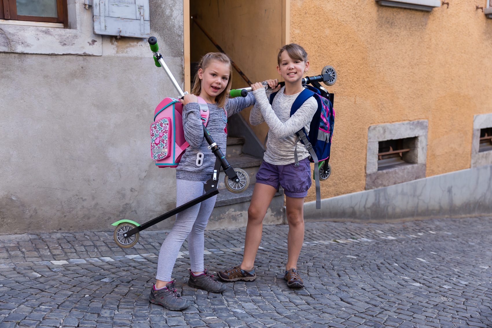 Meet Daisy and Scoot - our modes of transport to and from school!