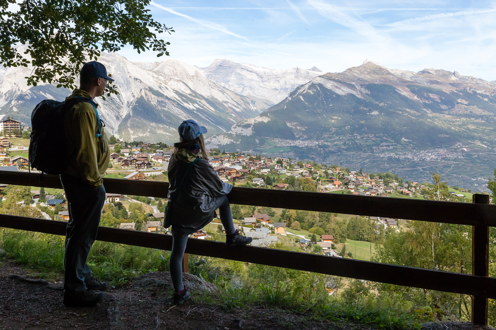 """Being invited out to to go for a walk along the """"Bise"""" waterways/canals up in the mountains that knit agricultural land together allowed for the most amazing views and a reminder of our mountains back home - minus the villages attached to cliff walls…we don't have those…unless you count the wall hanging bivouac sites.."""