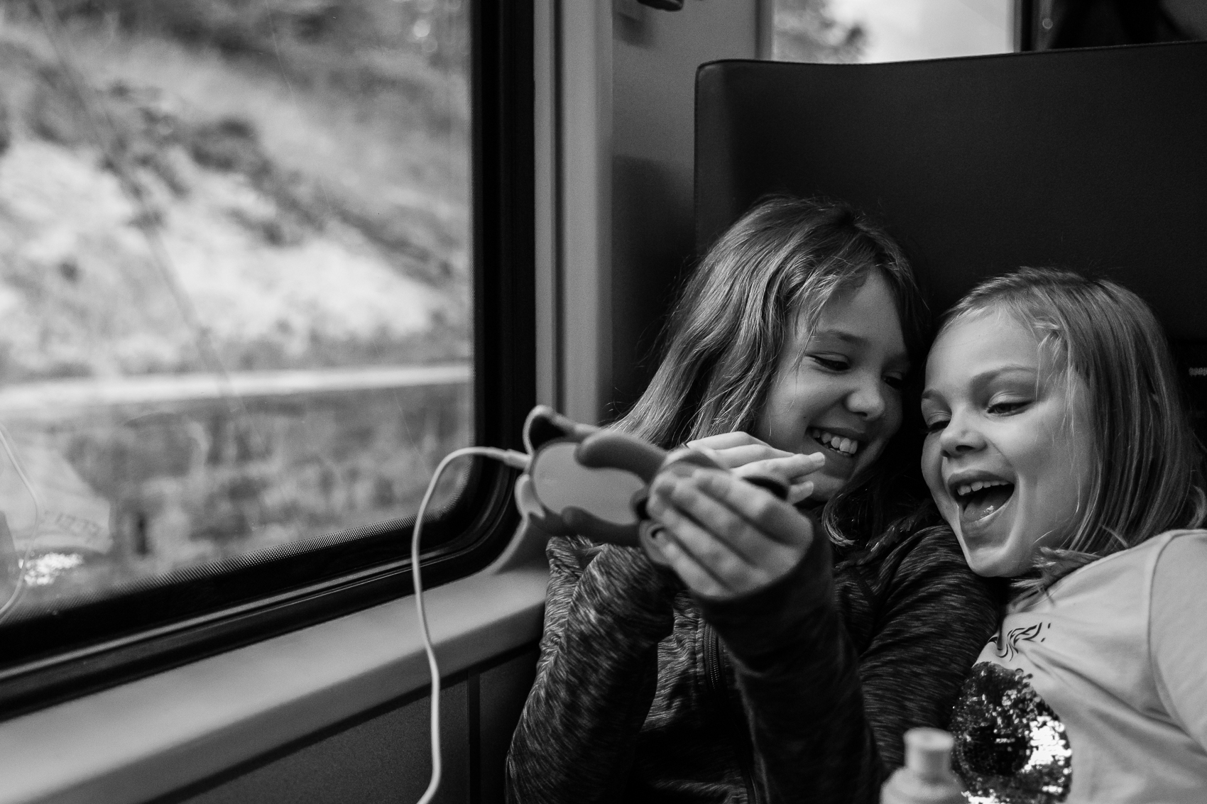 Time on the train allows us to do this, use the bathroom, have a picnic, get on each other's nerves, look out the window, not have to juggle traffic or listen to Siri butcher every road she pronounces