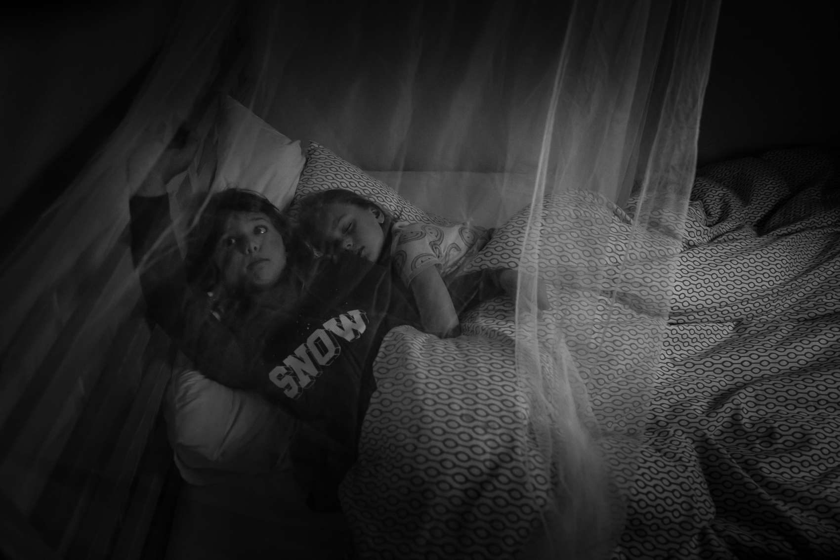 when school days feel a bit overwhelming, there is nothing better than snuggling up to a sister who totally annoys you and gets you all at the same time. Mosquito net…well that is because the bugs here are HUGE! and the mosquitos like nighttime blood sucking ninjas you never see (or hear) coming.