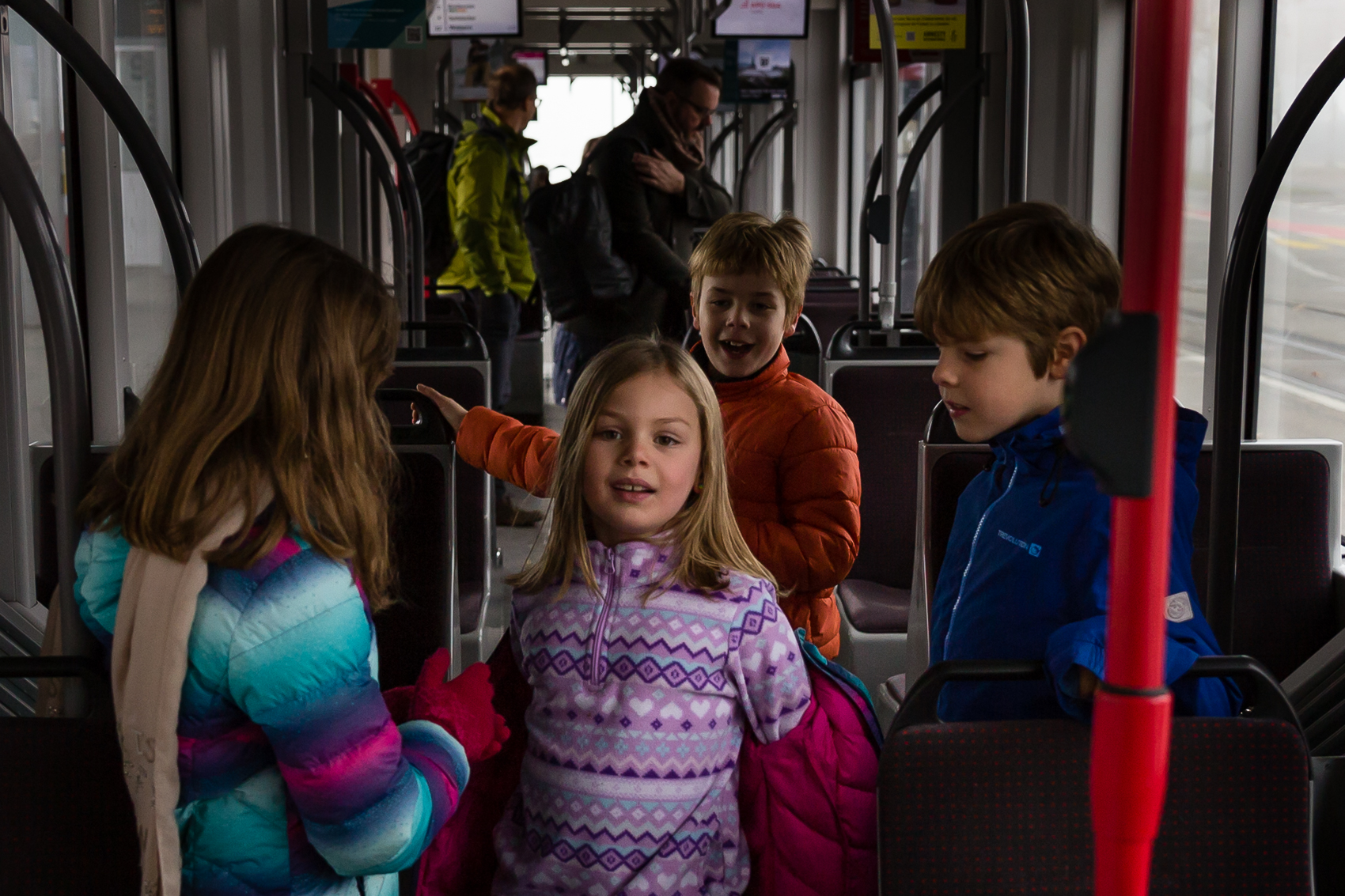 everyone all aboard….cold/warm and frosty - this crew took train travel to a whole new level of excitement.