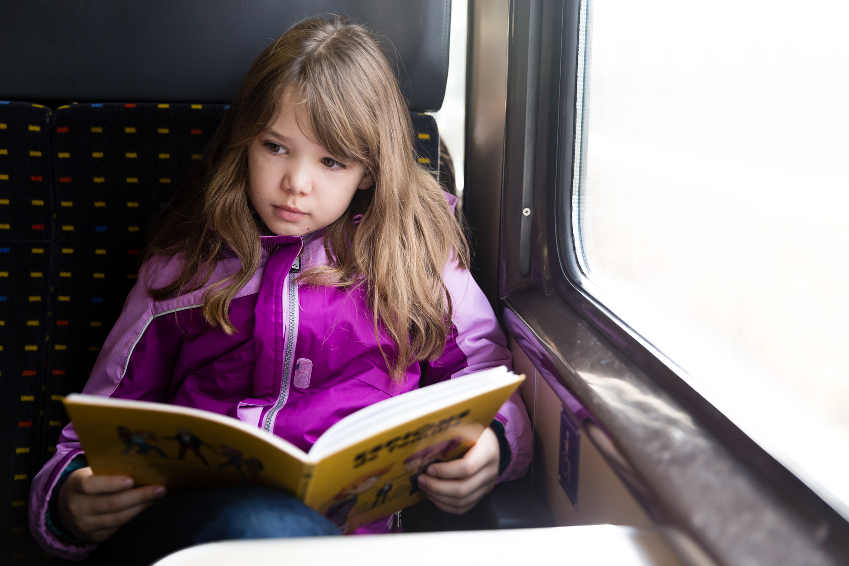 on the way there, on the way back…always with a book in hand…train days…we love them!