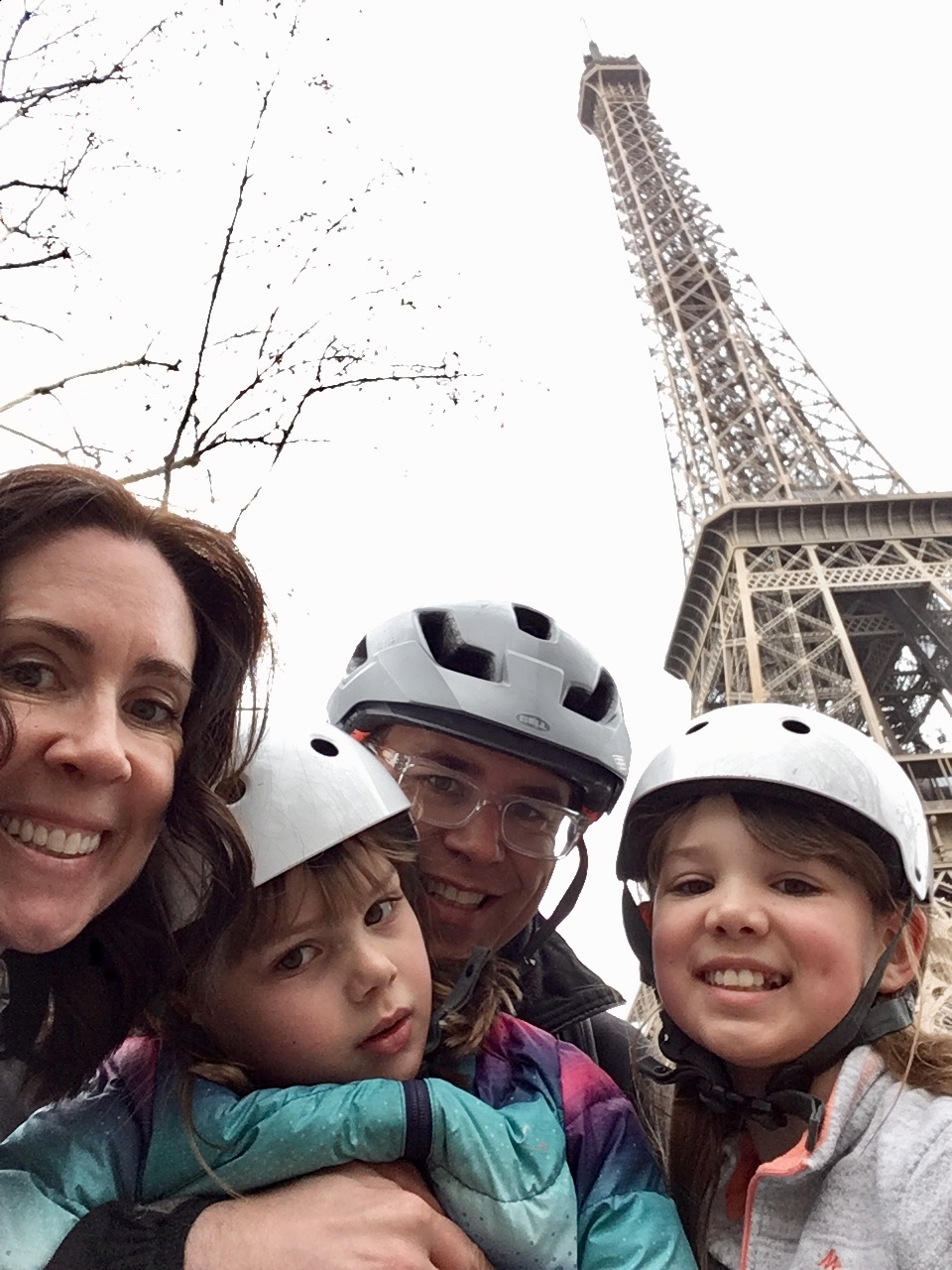 c'mon…one nice photo for mom? We squeaked this one out before meltdown number 5 of the day - s***t happens. We have learned to roll with it - tip…always know where your next croissant is coming from and never leave wherever without an extra battery pack for your cell phone.
