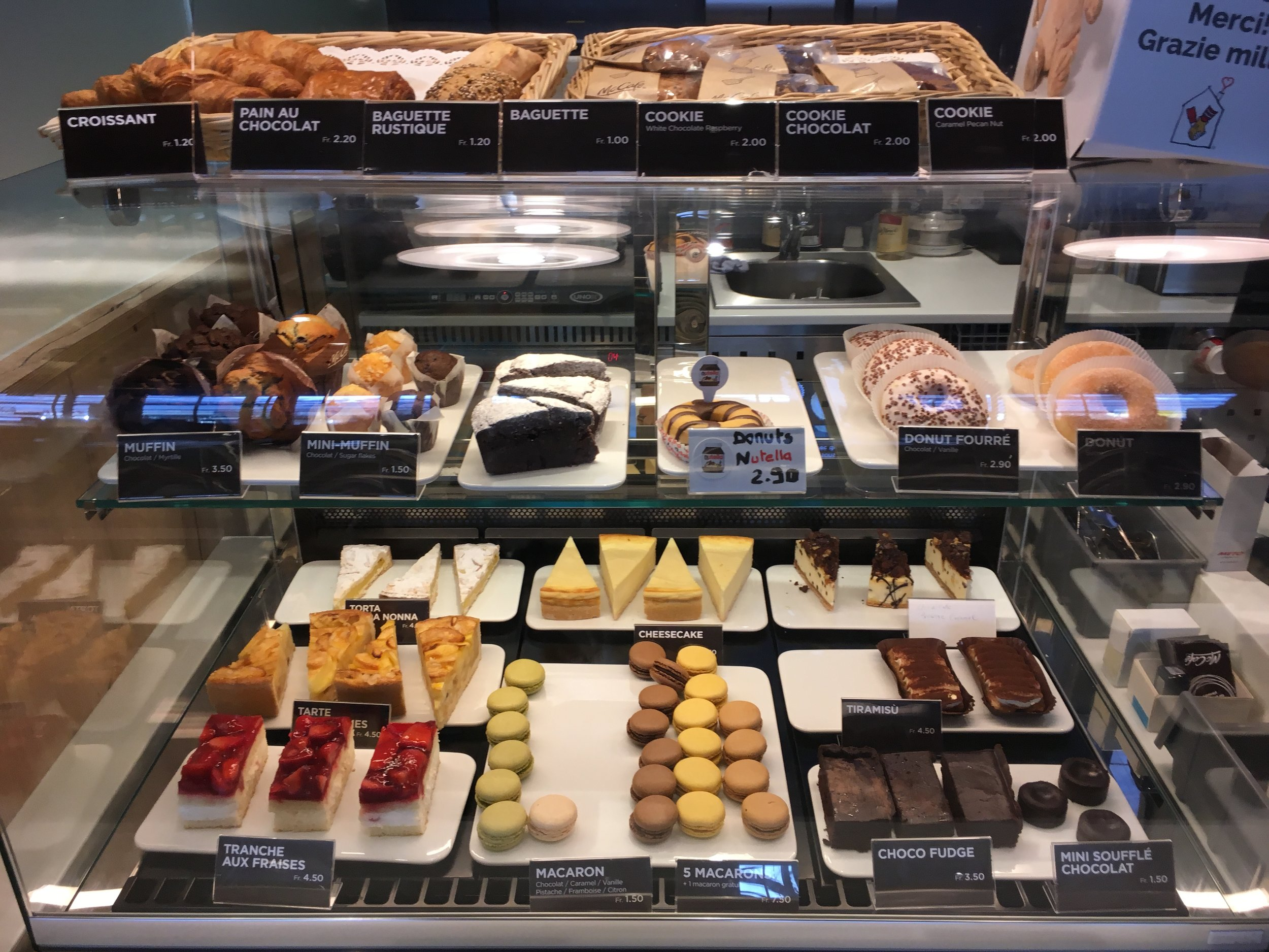 The deserts in our local McDonald's, macarons anyone?