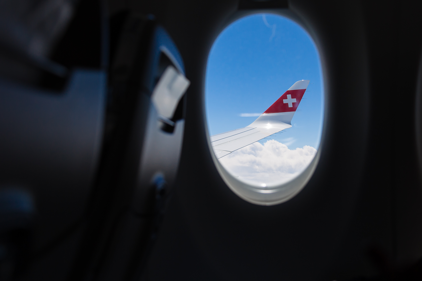 always a good day when we see the Swiss air wing out the airplane window. Going somewhere good.