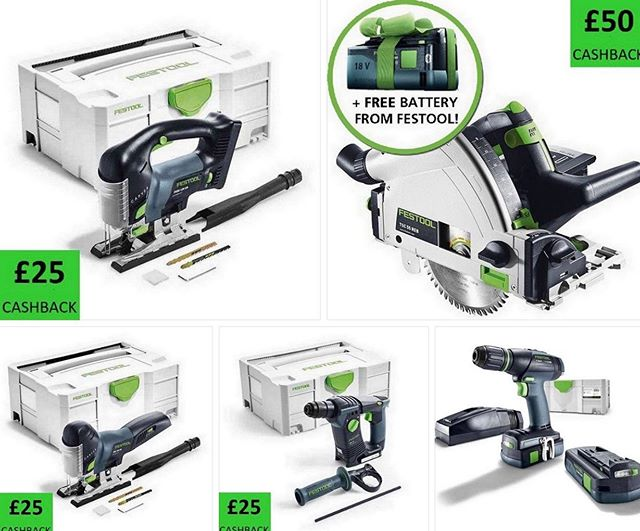 Our Friday Night deals are now live. Thanks to @angliatoolcentre  for these great deals.  Link in the Bio  #festool #festoolfan #featoolme #tsc55 #festoolbhc #carvex #festoolT18