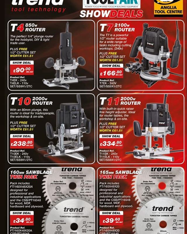 Who has been to see @angliatoolcentre  at the tool fair , have you seen there deals on @trendrouting 😍. @festool_uk