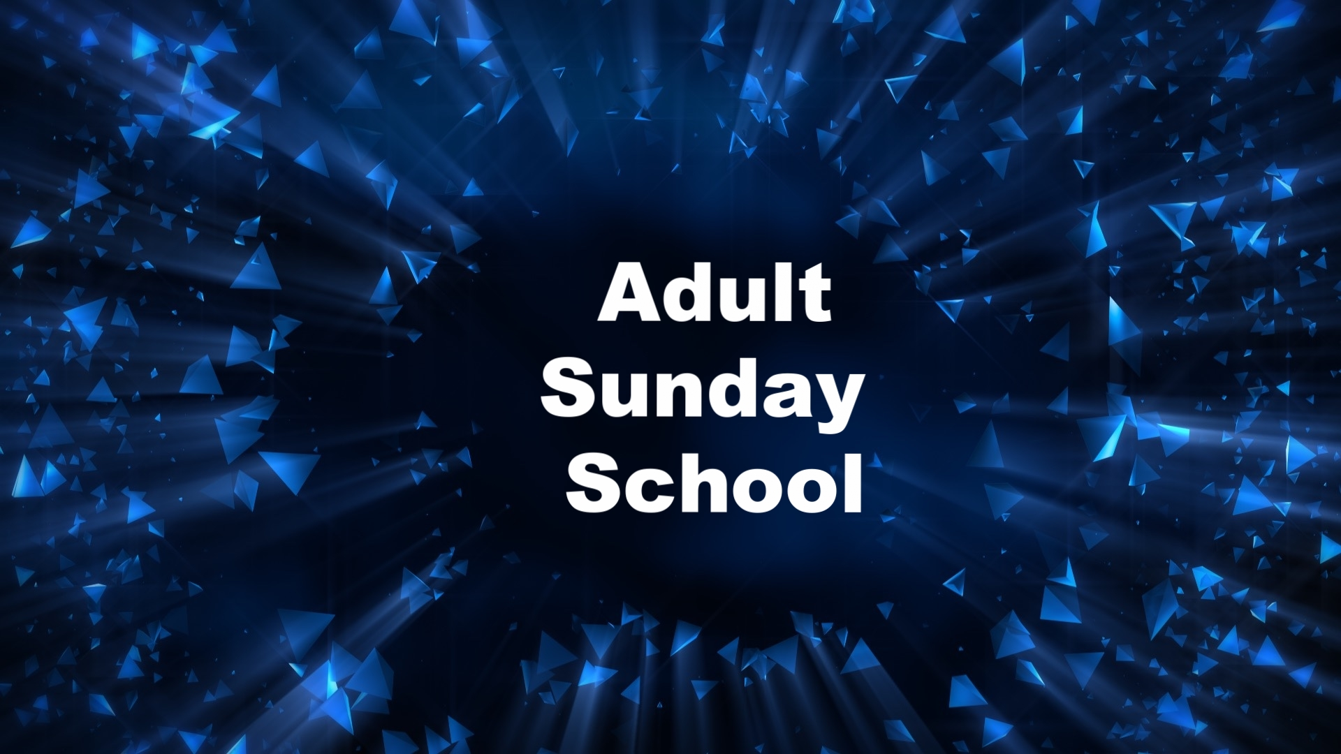 CLICK ON IMAGE:Adult Sunday School