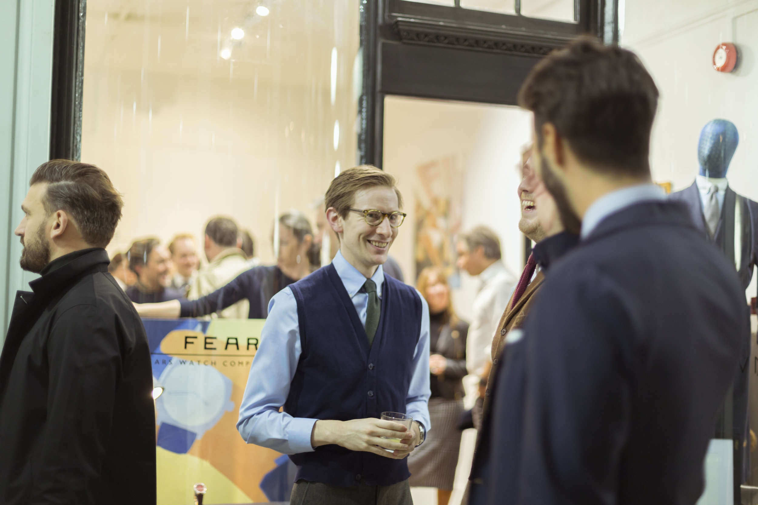 Tom Beecroft of Gownsmith at Kit Blake launch.