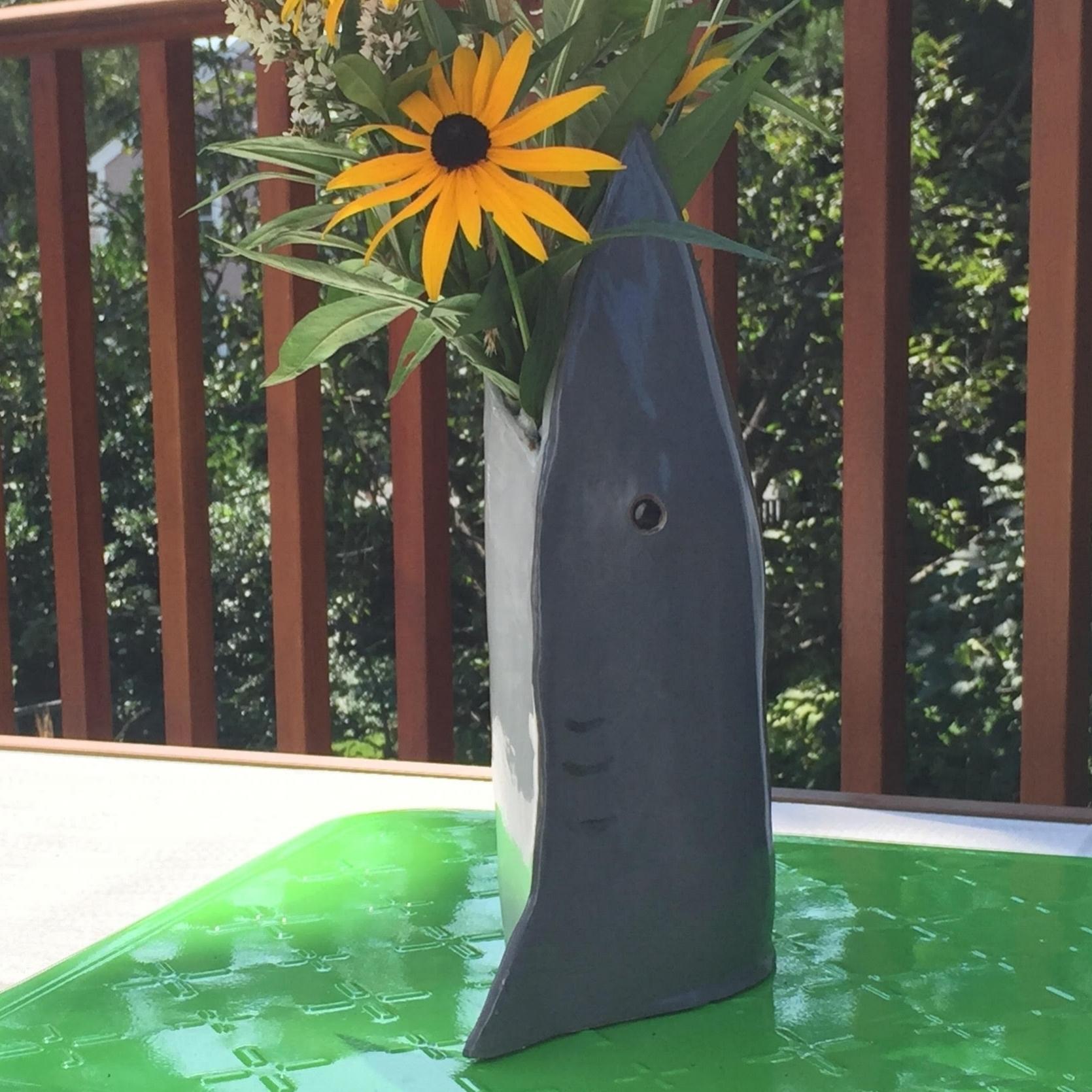 Great White Shark Vase