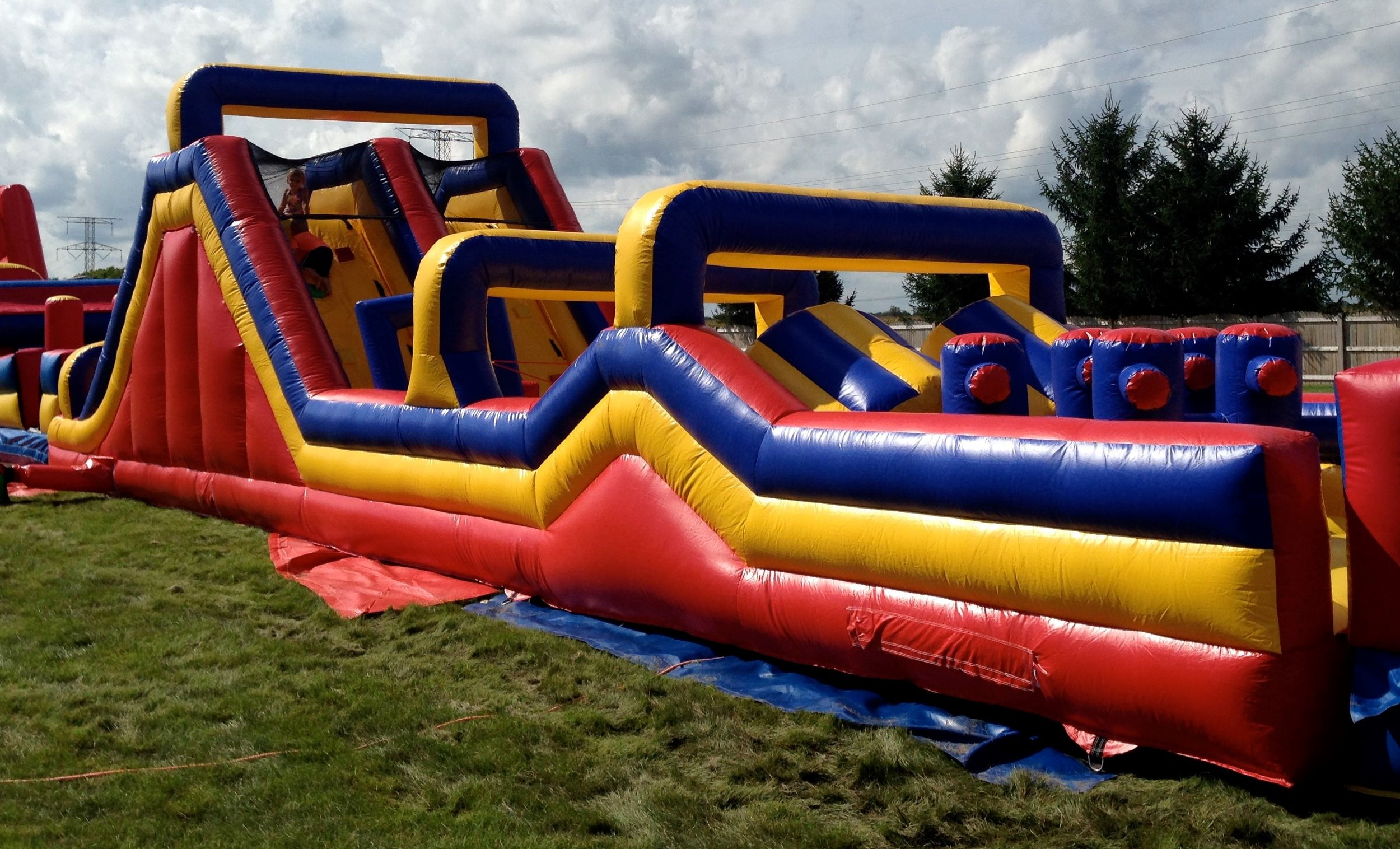 50' Obstacle Climb and Slide Section