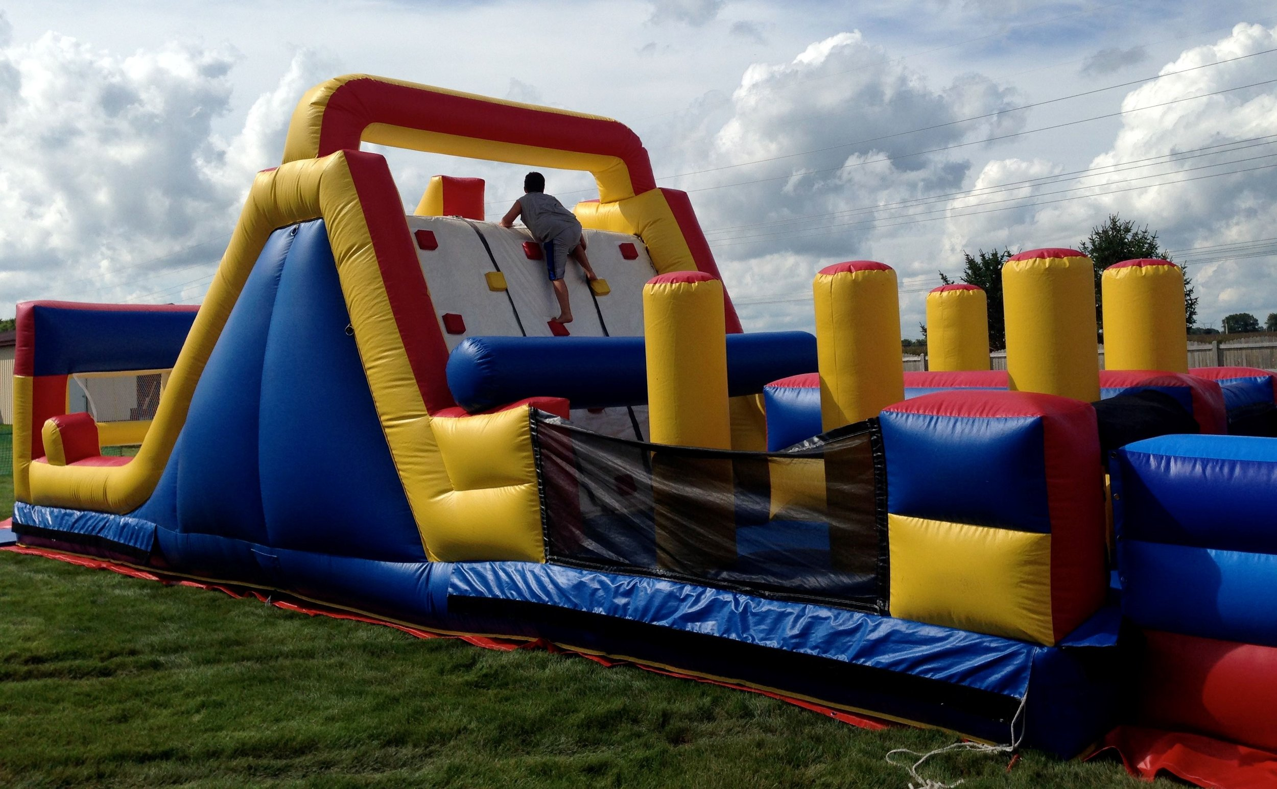 40' Obstacle Climb and Slide Section