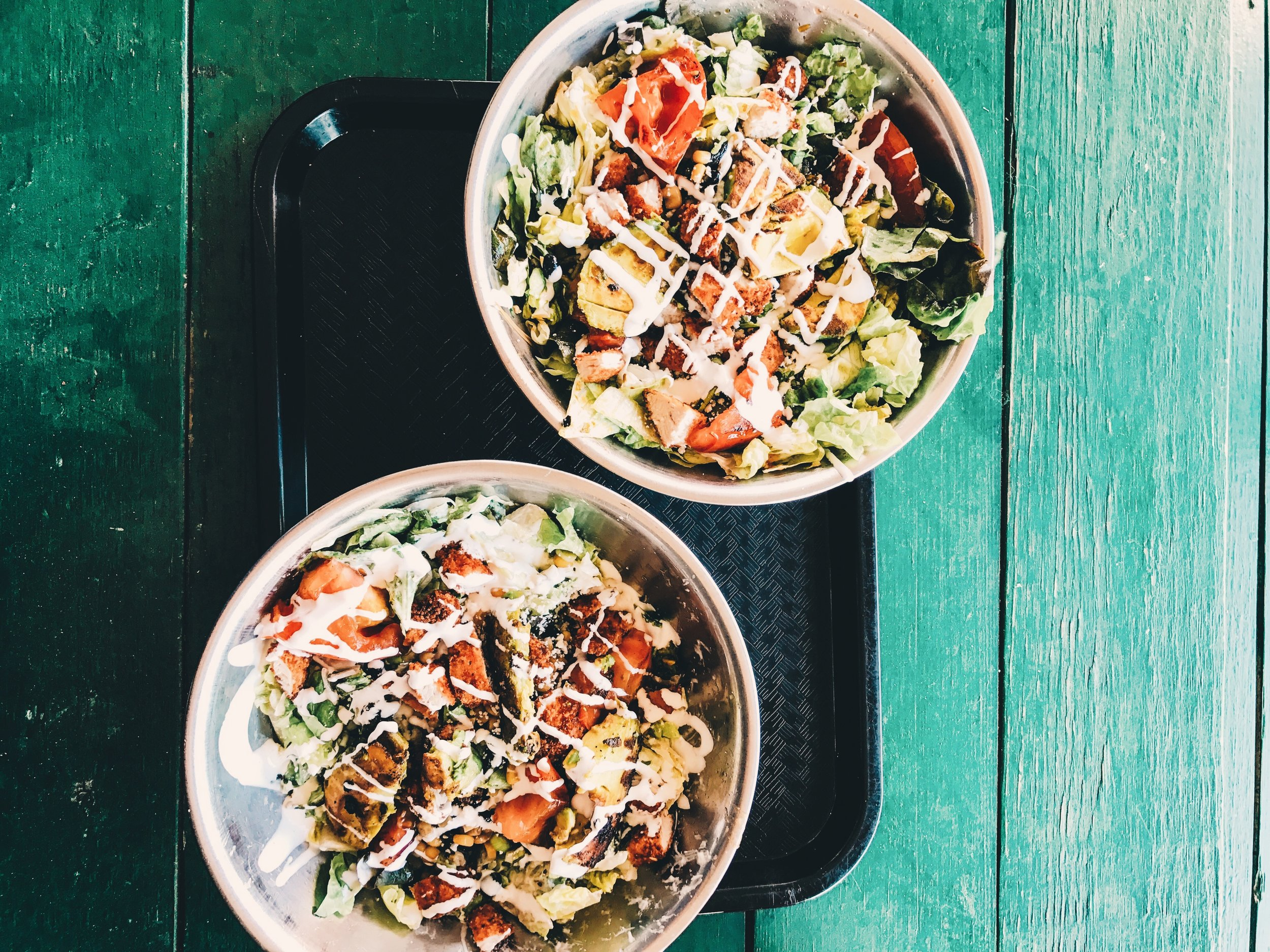 Snappy Salads - Grilled Avocado w/ Crunchy Chicken (both)