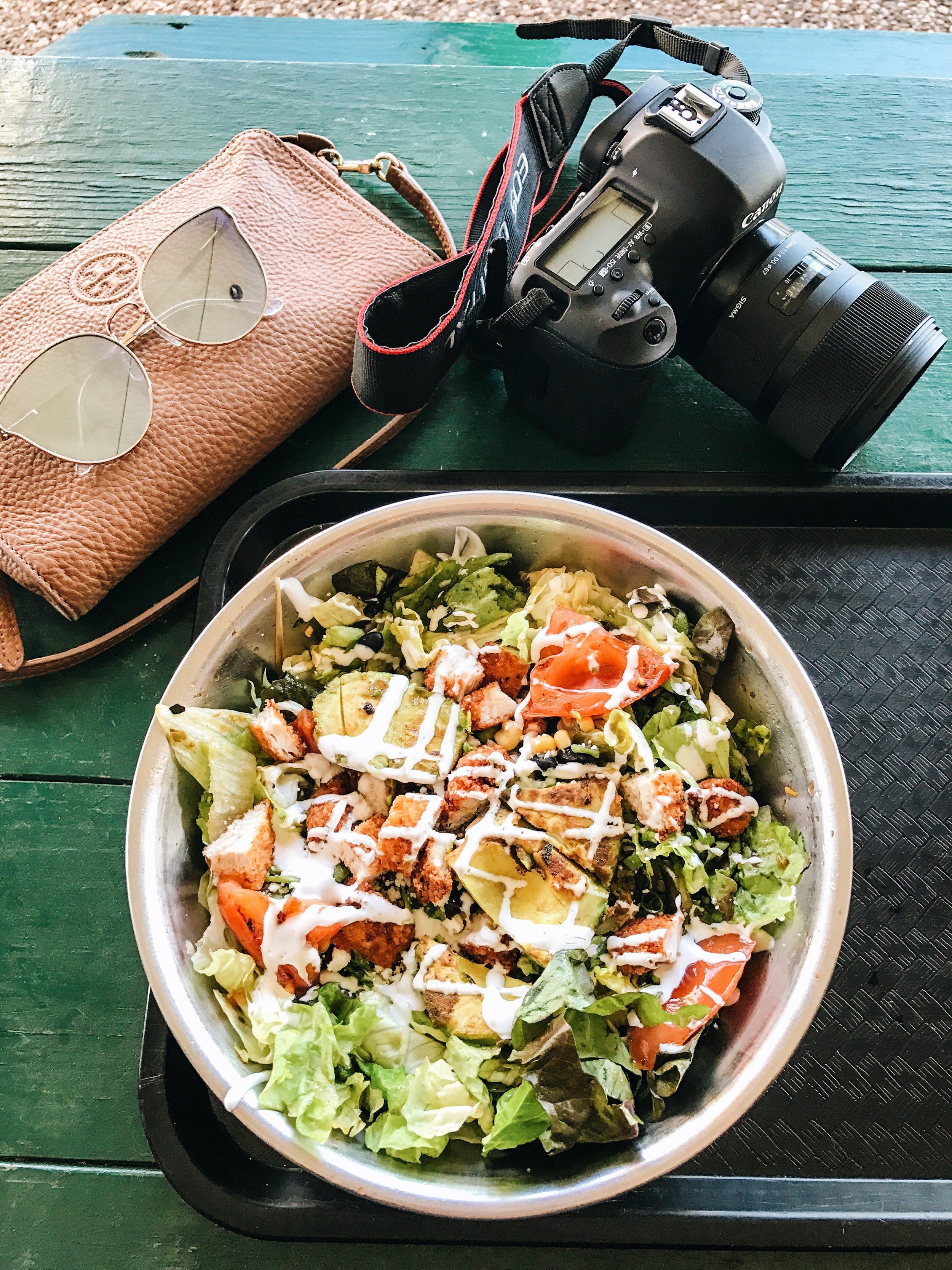 Snappy Salads - Grilled Avocado w/ Crunchy Chicken