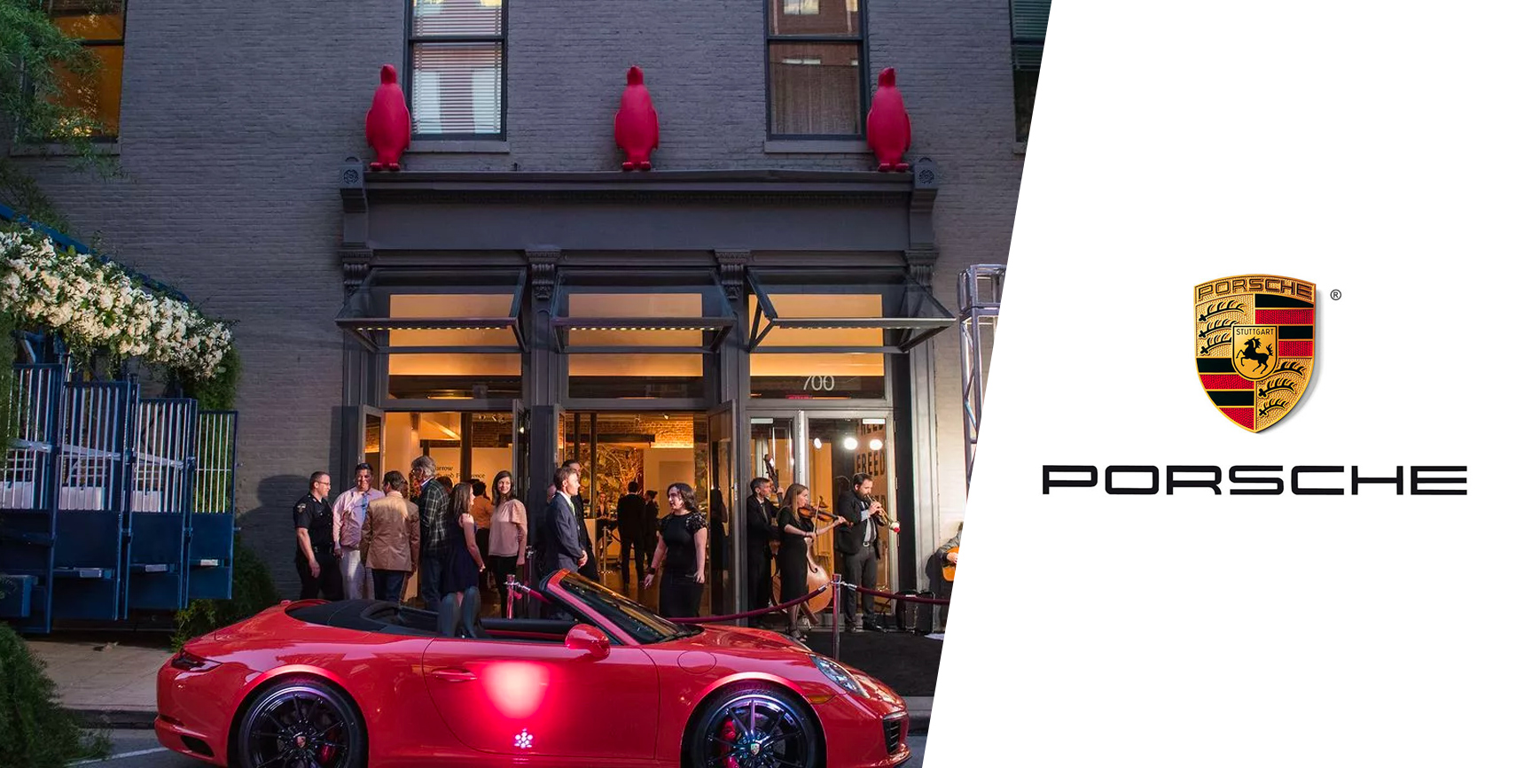 PORSCHE at 21c Museum Hotel - Brand activation in tandem with Kentucky Derby kick-off weekend hosted by Vanity Fair.