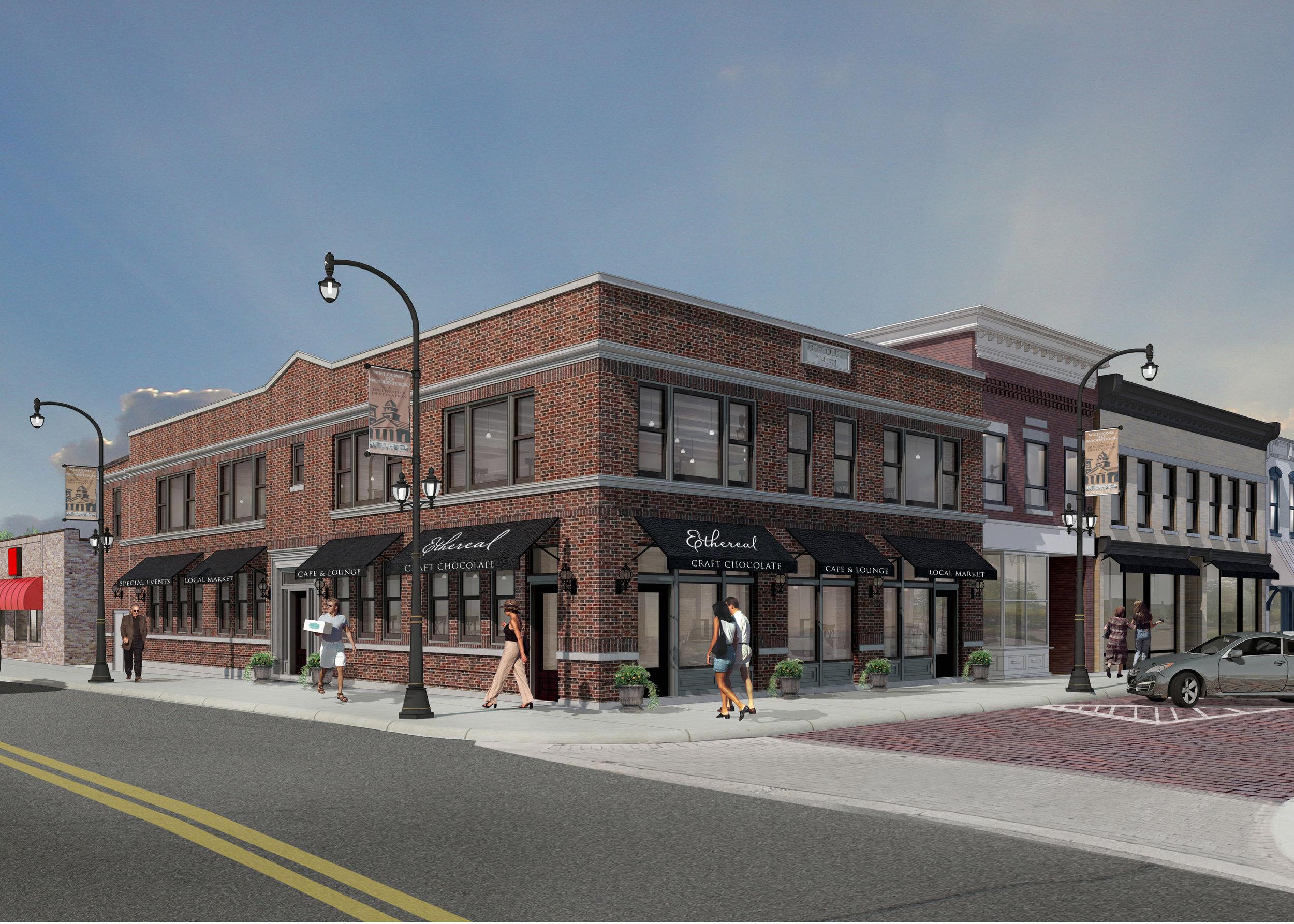 140cass street exterior color rendering-streetscape2a.jpg