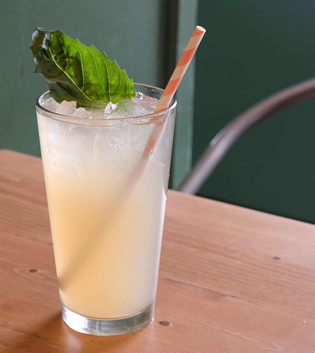With Memorial Day weekend here we can finally say hello to summer. It's also a perfect time to say hello to our refreshing Peach Basil Lemonade!⠀ .⠀ .⠀ .⠀ #summerishere #basillemonade #peachlemonade #lemonadedoneright #smalltowncafe #organicmenu #veganmenu #glutenfreemenu