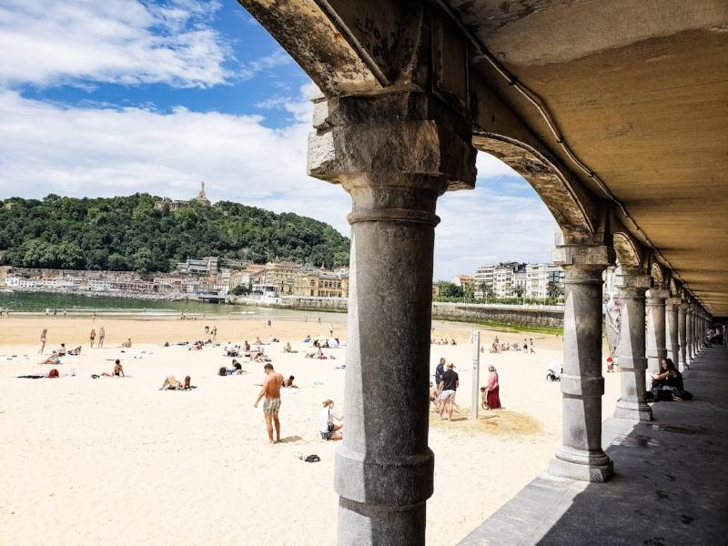 Playa de La Concha,San Sebastián-Donostia.