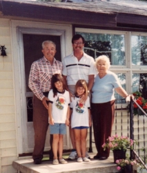 My Grandma and Grandpa along with my daughters Lisa and Melissa      1993
