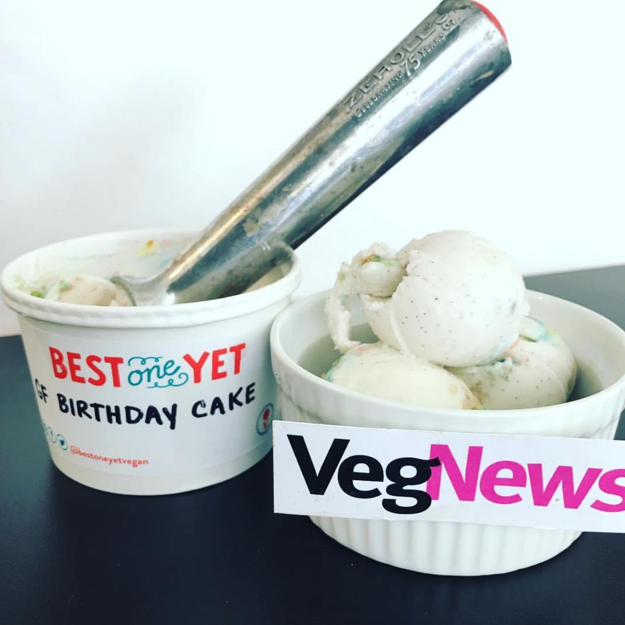 VegNews - It's My [Gluten-Free] Birthday Cake Ice Cream
