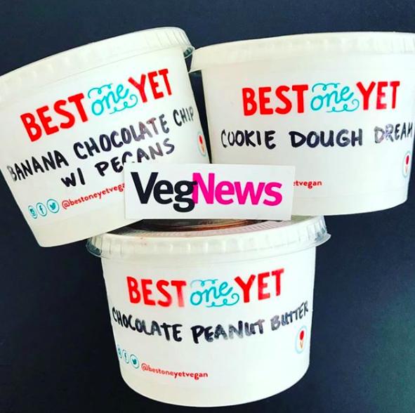 VegNews - It's My GF Birthday Cake, GF Cookie Dough Dream & Barry White's Chocolate Peanut Butter Ice Cream