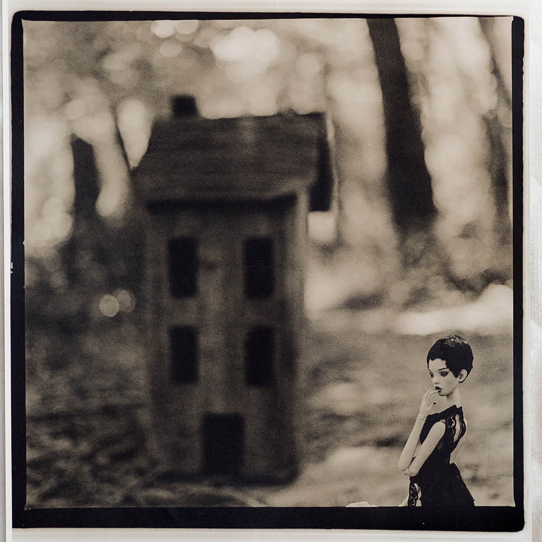 "PaperDreams    ©Katarzyna Derda    ""Where is home""     from the series 'Paper Dreams'    lith print , Chicago 2016    unique;edition of 1"