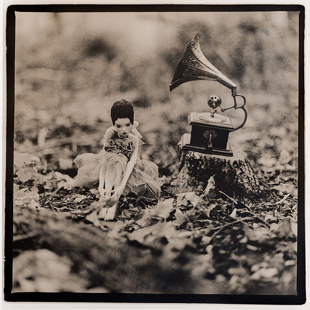 "PaperDreams    ©Katarzyna Derda    ""Gramophone""     from the series 'Paper Dreams'    lith print , Chicago 2016    unique;edition of 1"