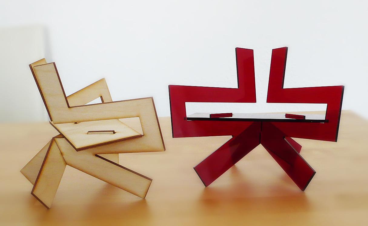 1:6 scale prototype models of Samurai Chair
