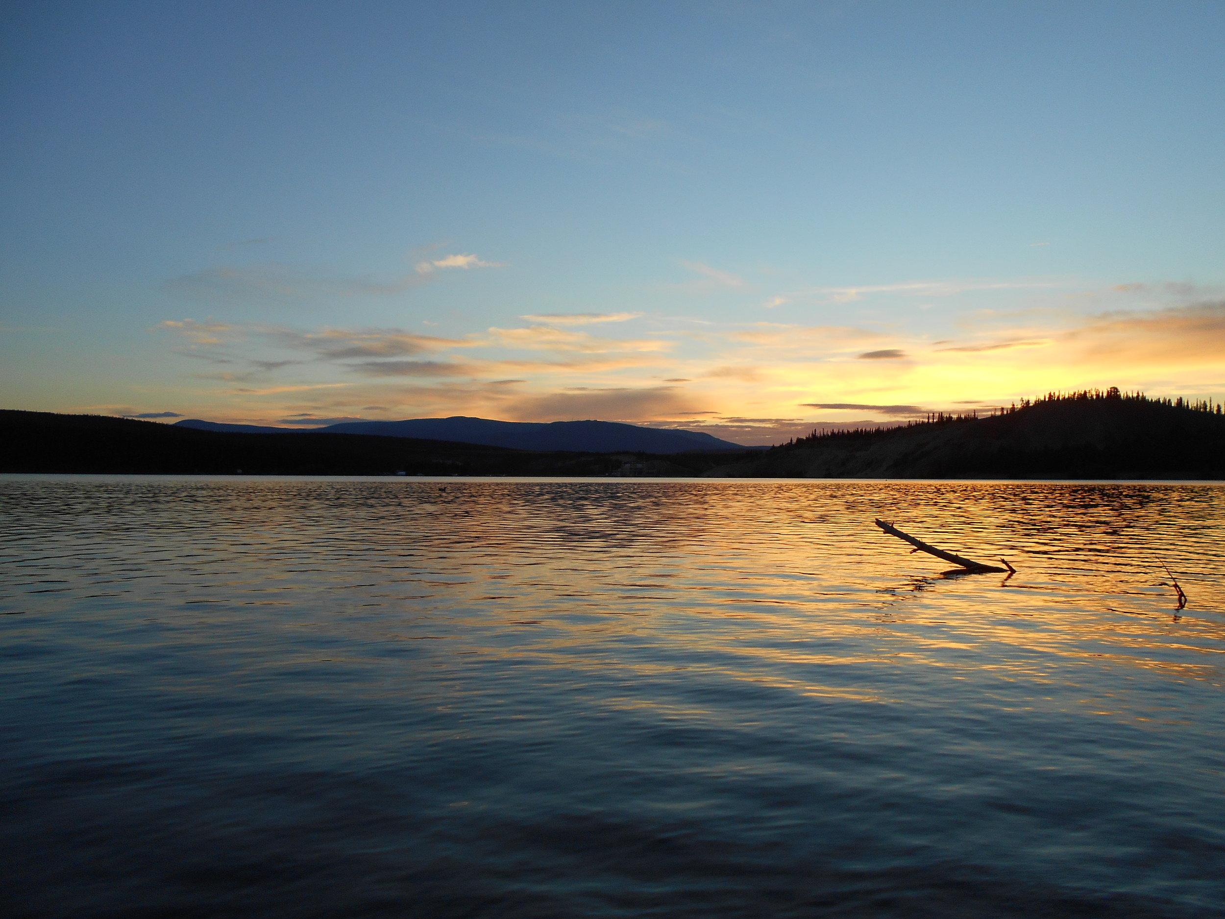 Sunset at Schwatka Lake.