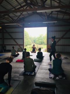 Do yoga in the fresh air!