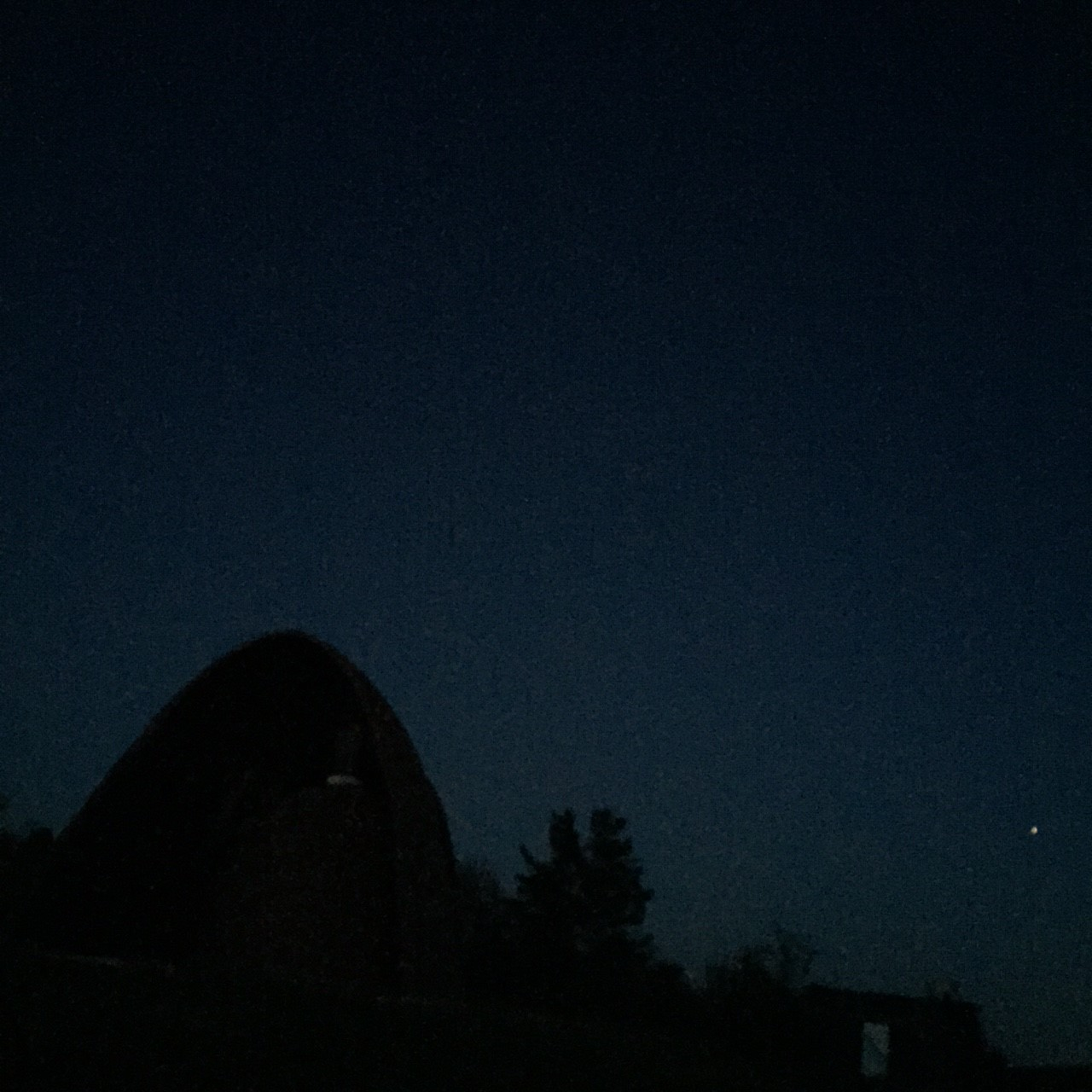 Mars in the West, Moon overhead (not pictured)