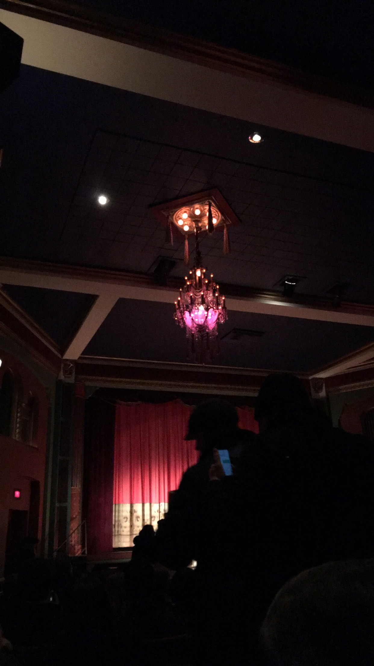 The historical detail of the Heights Theater, my favorite being the chandaliers
